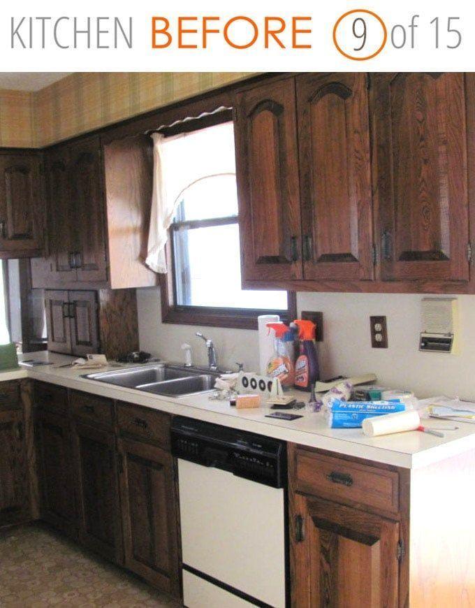 Eine Dunkle Alte Kuche Wird Wunderschon Sie Erkennen Die Nachfotos Nicht 15 B Dunkle Erkenne Kitchen Remodel Diy Kitchen Remodel Kitchen Remodel Small