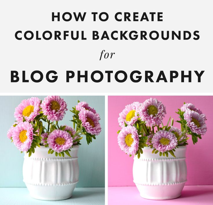 How to Create Colorful Backgrounds for Blog Photography - The Nectar Collective