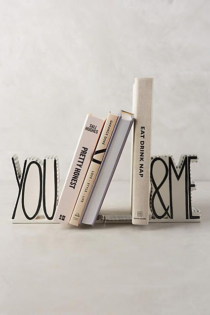 You and Me Bookends on Anthropologie