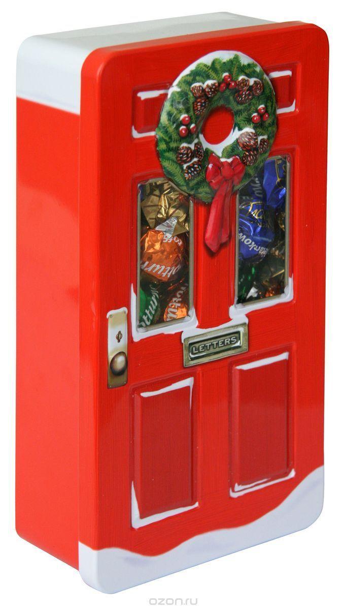 Купить Сладкая Сказка Рождественская дверь красная шоколадные конфеты, 400 г в интернет-магазине OZON.ru