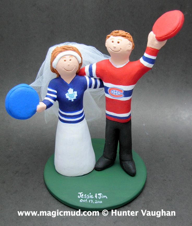 hockey player wedding cake topper 17 best images about hockey wedding cake toppers on 15259