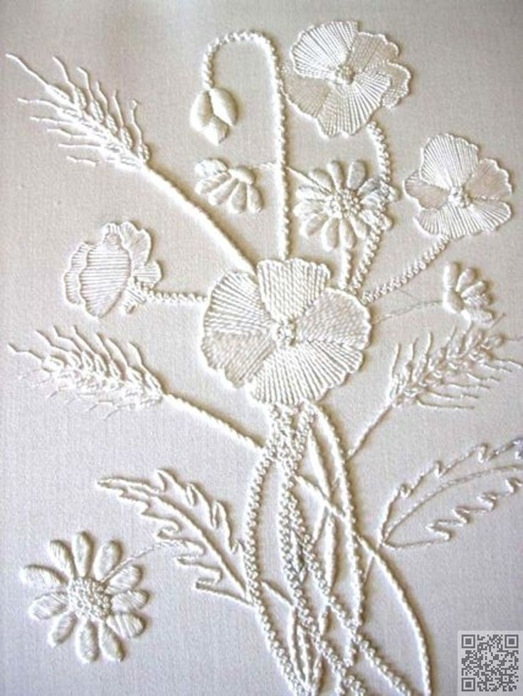 13. #White on White - 34 Embroidery #Patterns You Are Going to Love ... → DIY #Animals