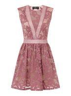 Womens **Little Mistress Pink Lace Panel Dress- Pink