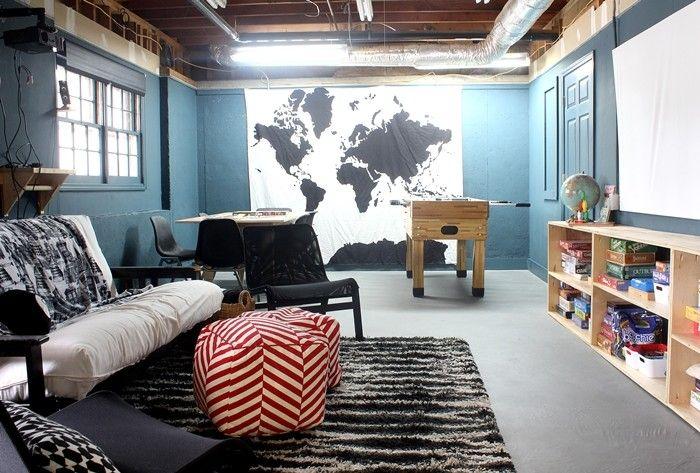 353 Best Basement Spaces Images On Pinterest