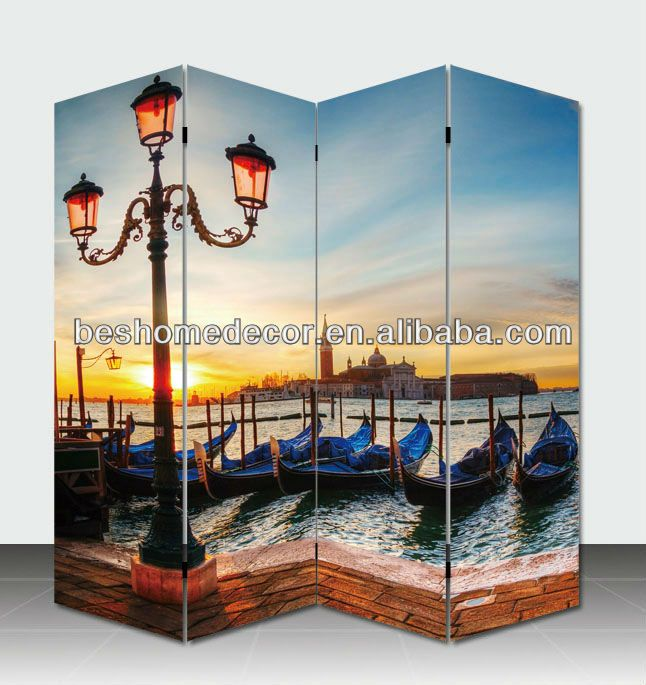 #hanging room divider, #hand-painted wooden screen room divider, #movable screens room dividers