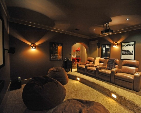 Traditional Media Room Design, Pictures, Remodel, Decor and Ideas - page 5