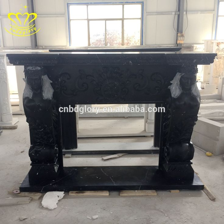 French Style hand Carved White Marble Fireplace Su…