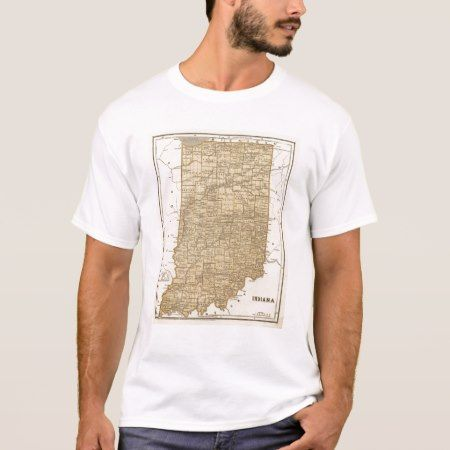 Indiana Atlas Map T-Shirt - click/tap to personalize and buy