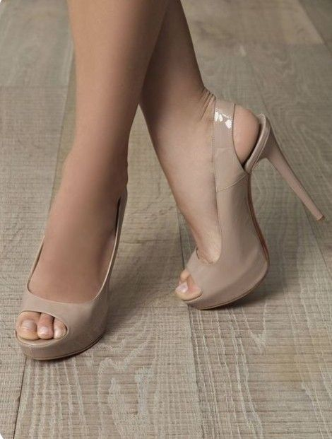 ea217786e Perfect patent nude open toe platform heels i have been looking for ...