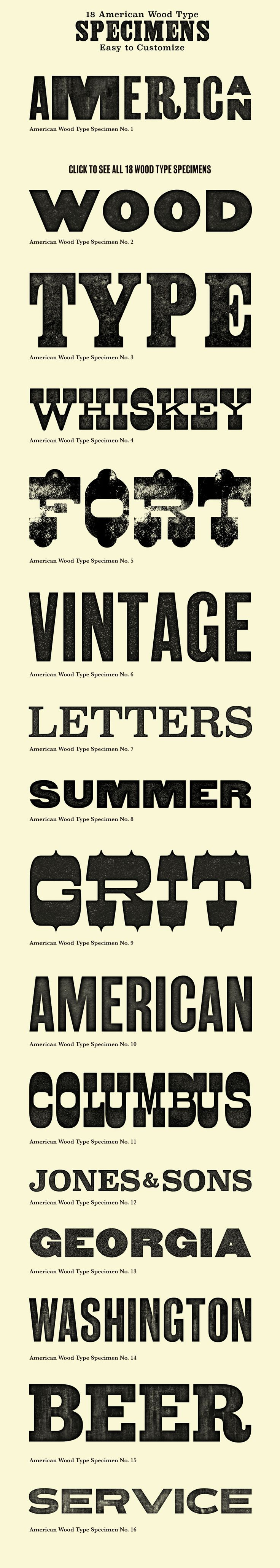 American Wood Type - Actions by Dustin Lee