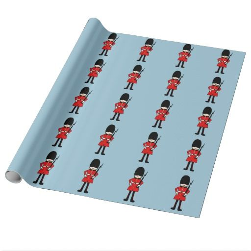 Queen's Royal Guard Gift Wrapping Paper
