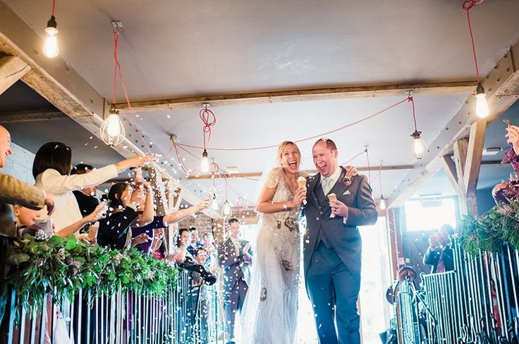 Bride and Groom from a pale green pub wedding in Sussex | Photography by http://www.razia.photography/