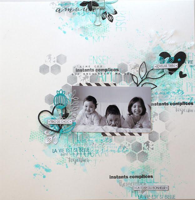 Le scrap d 'Opsite: Une page pour Florilèges Design et son tutoriel