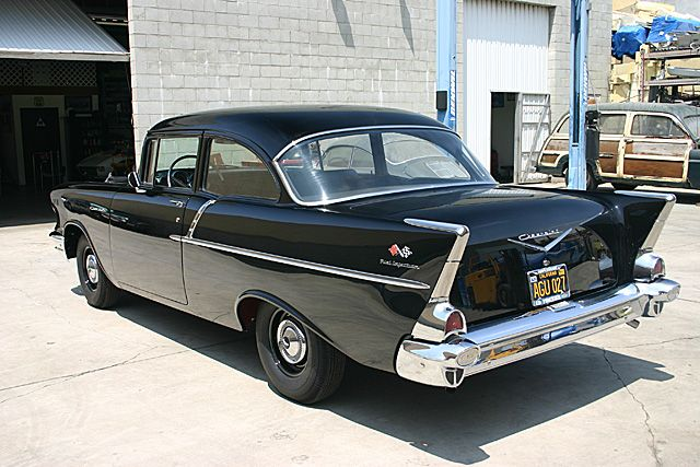 1957 chevy 150 black widow  283 ci fuel injection  rare