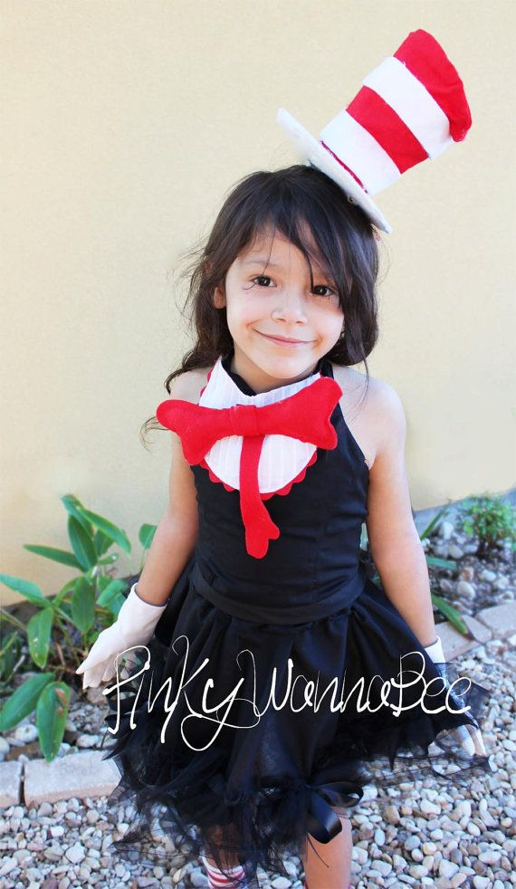 cat in the hat inspired costume for girls toddlers by pinkywannabee - Cat In The Hat Halloween Costume Ideas