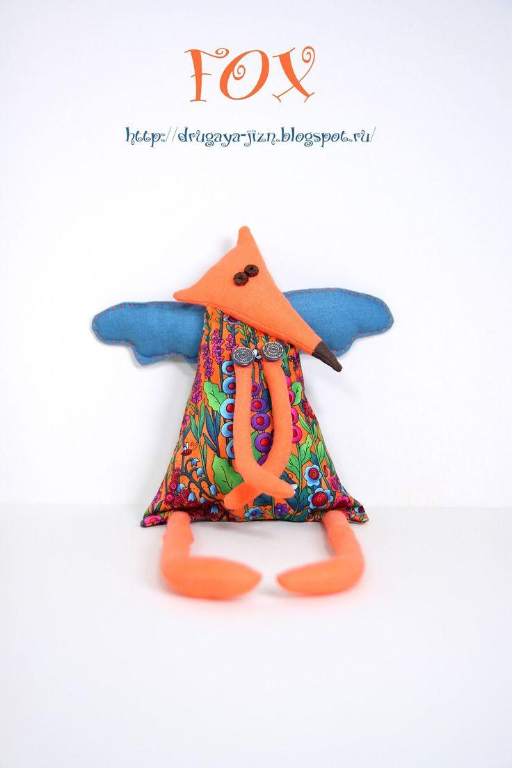 Медитация с иглой и пяльцами...: Про лисичку, или как правильно кивать/Fox