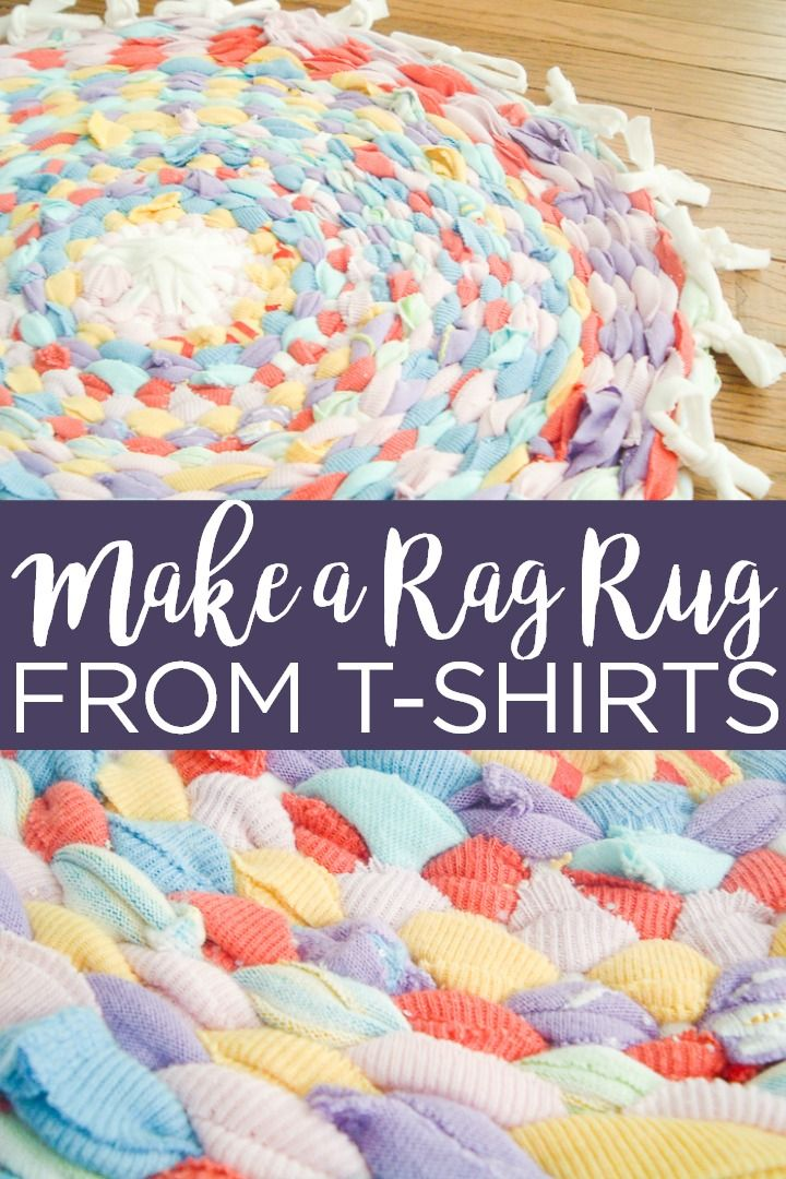 How To Make A Rag Rug In 2020 Rag Rug Old T Shirts Kids Christmas Crafts Easy