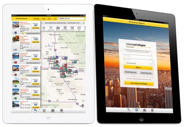 Choice Hotels iPad App