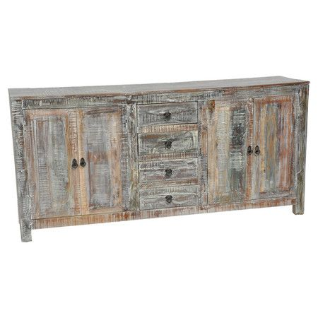 Hamilton Buffet Bring Rustic Chic Appeal To Your Kitchen Or Dining Room With This Lovely Reclaimed Wood Showcasing 4 Drawers And A Lime Wash Finish