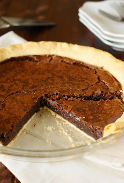 Chocolate Crack Pie ~ fudgy deliciousness in a crust!  I replaced two tbs of sugar with 2 tbs of cocoa powder.  Also added 1/2 tsp vanilla and used salted butter.  Amazing.