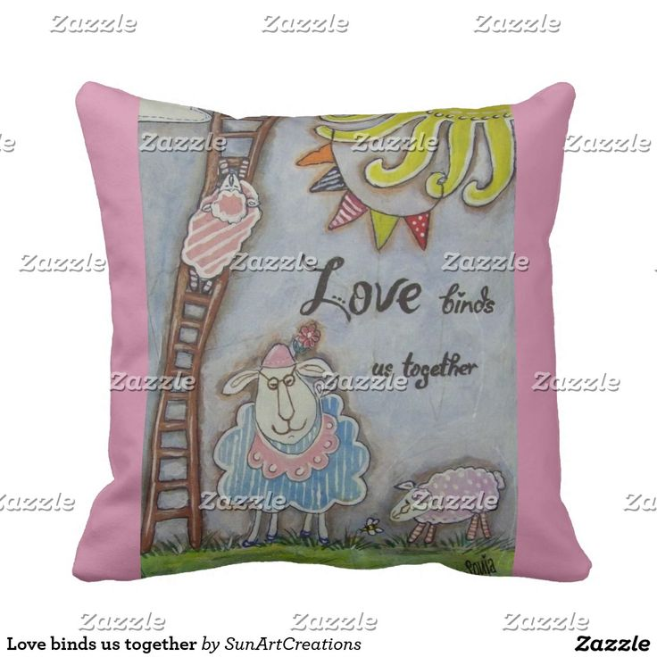 Love binds us together throw pillow