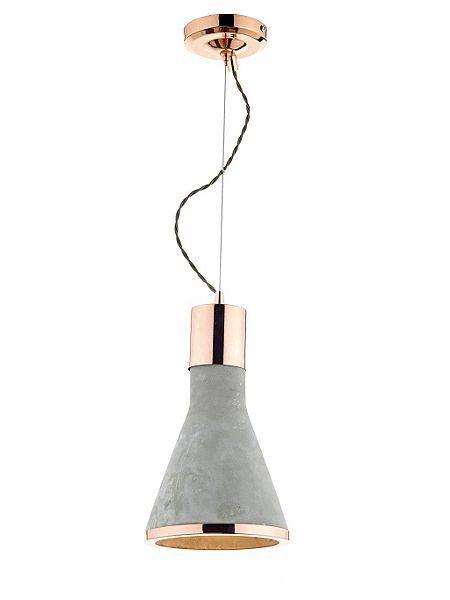 Rhonda Concrete & Copper Cone Pendant