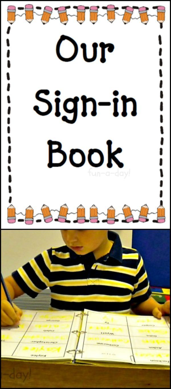 The benefits of a sign-in book for early childhood classrooms (or home schools).  Includes a link to a free download.  A great way for kiddos to practice writing their names in a simple, quick way.