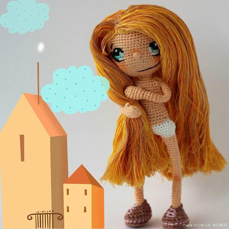 Алиса. Кукла ручной работы, связаная крючком. #crochet #handmade #instacrochet…