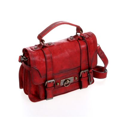 Maple and West Frye Cameron Small Satchel - Burnt Red