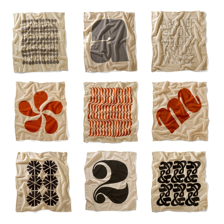 House Industries Flour Sack Towels Photo letters, Flour