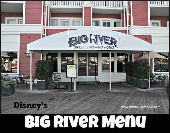 Big river grille and brewing works menu disney for Fish river grill menu