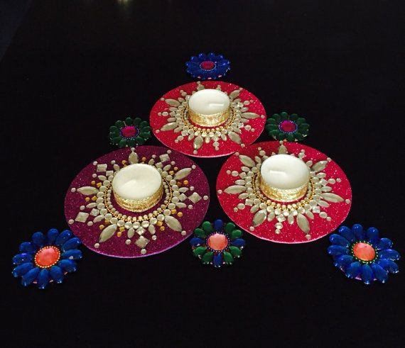 Tealight candle holderBollywood party favors Diwali by CozMHappy