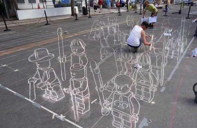Lego 3D street art   Life in strokes   Pinterest