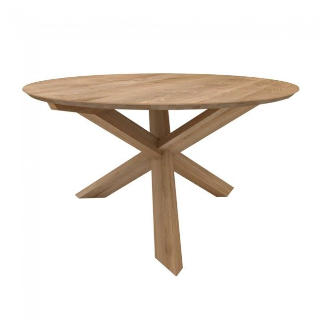 Ethnicraft Oak Circle Dining Table