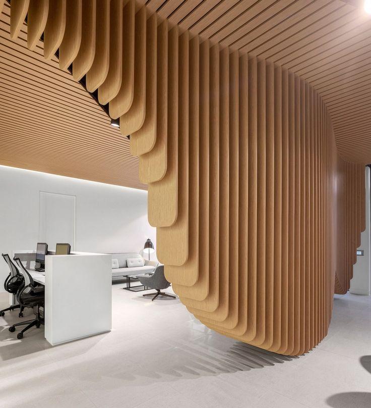 Dental Clinic in Sydney Built Around a Sculptural Wooden Installation - http://freshome.com/dental-clinic-in-sydney-built-around-a-sculptural-wooden-installation/