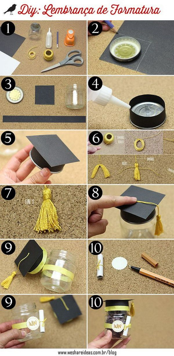 Mini Graduation Hat Jar.