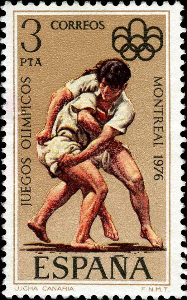 1976 España - Juegos Olímpicos de Montreal - Lucha Canaria