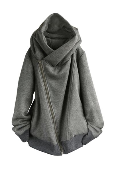 Oversized Gray Sweater perfect for a cold day on route to gym