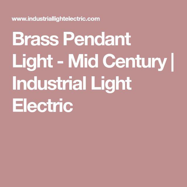 Brass Pendant Light - Mid Century | Industrial Light Electric