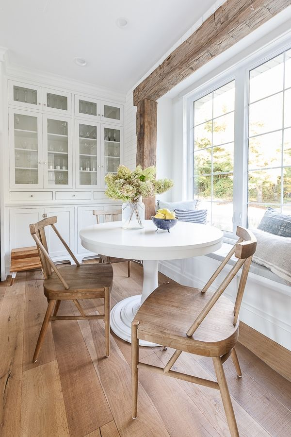 Round Breakfast Nook Table In 2021 Nook Table Kitchen Nook Table Breakfast Nook Table