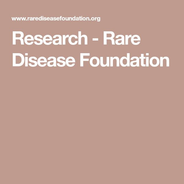 Research - Rare Disease Foundation