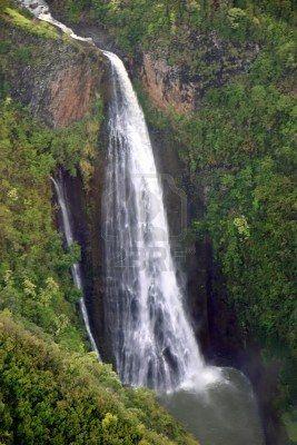 Waterfall Kauai Hawaii Island