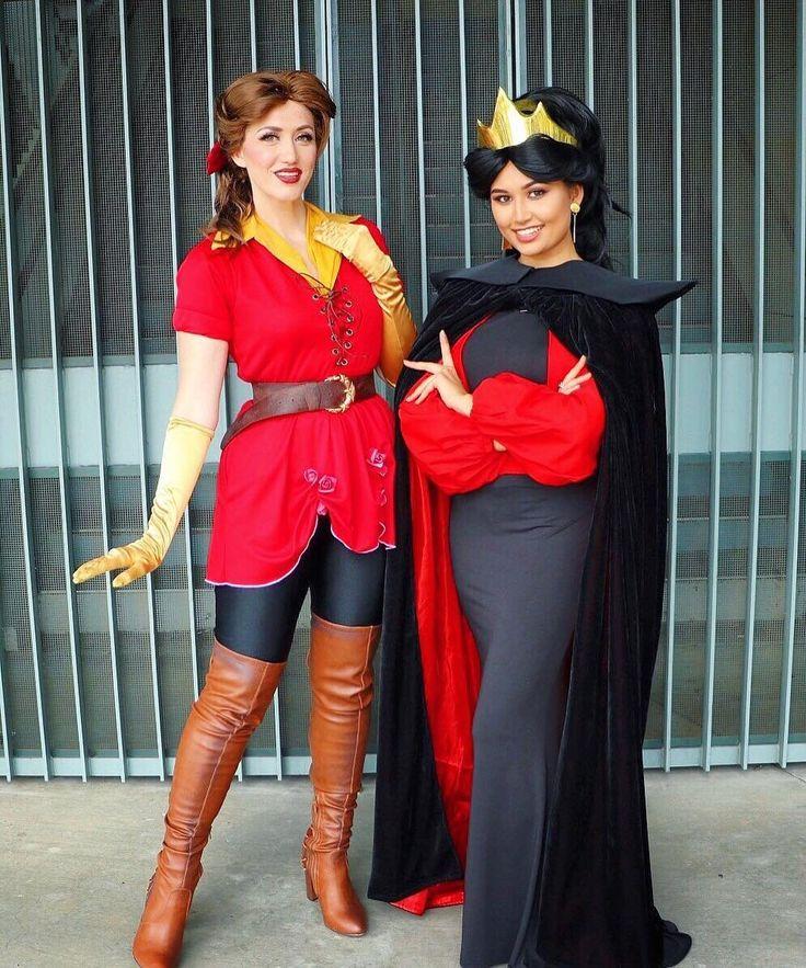 Belle as Gaston and Jasmine as Jafar
