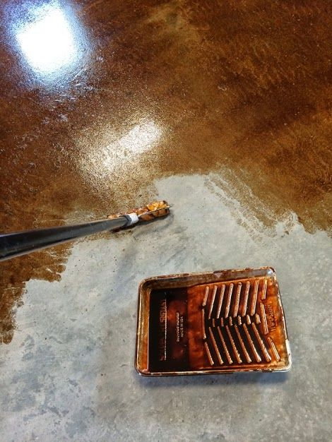 25 best ideas about stained cement floors on pinterest for How to finish a wood slab