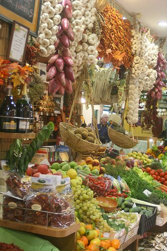 Beautiful fresh produce, Mercato Centrale, Florence, Italy