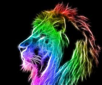 fractal animal | fractalius lions HD Wallpaper - Wild Animal & Reptiles (#1054408)