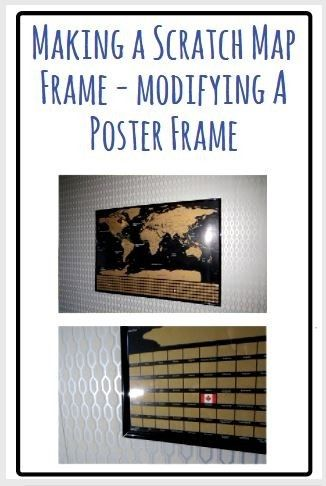 How To Frame A Scratch Map - Using A Generic Cheap Poster Frame in Cheap World Map Poster on