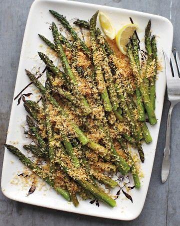 Roasted Asparagus with Lemony Breadcrumbs. Lemon juice and zest ...