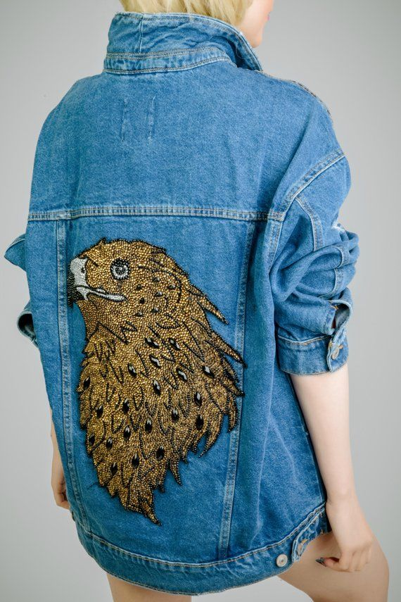 Personalized On Sale Jean Jacket Boho Jacket Denim Jacket