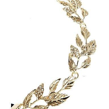 vintage bladgoud kristal haarband hoofdband hoofd ketting haar sieraden haar accessires hoofd sieraden – EUR € 3.49